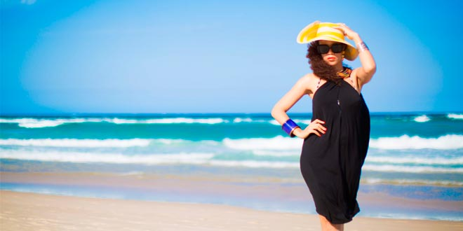 Accesorios de moda para la playa