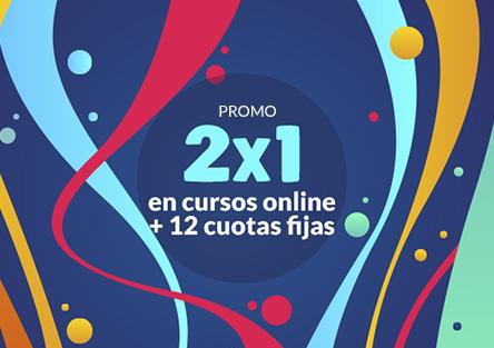PROMO AGOSTO 2020:  !!! 2X1 en Cursos !!!